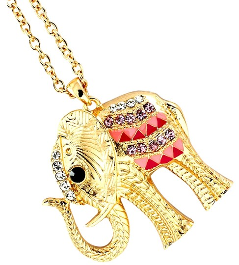 Other pink elephant necklace
