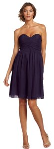 Donna Morgan Bridesmaid Purple Silk Dress