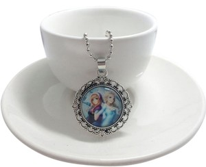 Disney's Frozen Glass Dome Handmade Charm Necklace