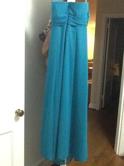 David's Bridal Teal Dress