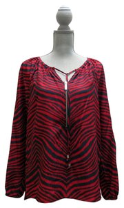 Michael Kors Tunic Zebra Top Red/Navy