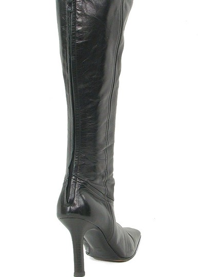 Narciso Rodriguez Knee High Tall Pointed Toe Stiletto Black Boots Image 2