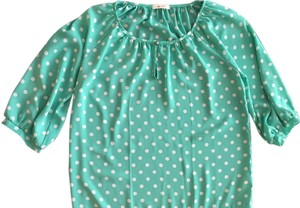 Everly Polka Dot Polka Dot Sexy Green Top