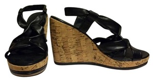 ALDO Wedge Strappy Black Sandals