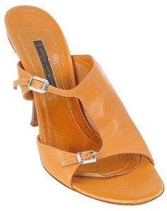 Narciso Rodriguez Cut-out Stiletto Open Toe Caramel, Mustard Mules