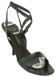 Narciso Rodriguez Strappy Open Toe Black Sandals
