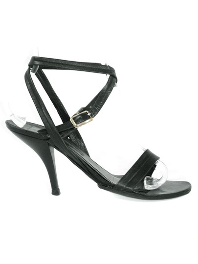 Narciso Rodriguez Strappy Open Toe Black Sandals Image 1
