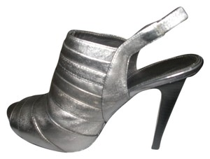 Calvin Klein Metallic Pewter and Black Pumps