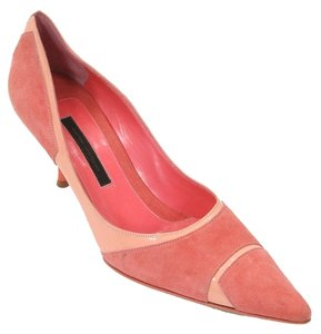 Narciso Rodriguez Pointed Toe Kitten Pump Suede Pink Pumps