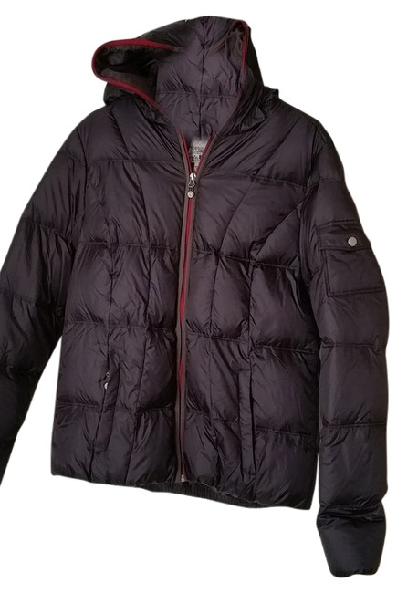 Item - Charcoal Grey with Red Trim Goose Down Coat Size 12 (L)