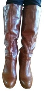 Nine West Magic Leather Brown Boots