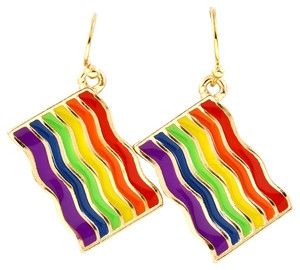 rainbow pride drop earrings