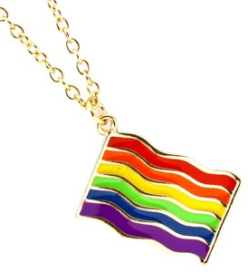 rainbow pride necklace
