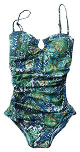 Anthropologie Anthropologie Sirena Ruched Maillot Sz XLarge