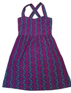 Everly short dress Blue, Purple, Pink Spring Bright Straps on Tradesy