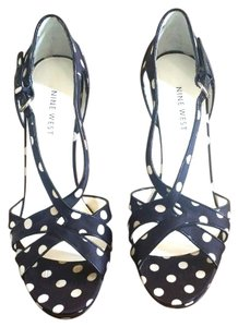 Nine West Polkadots Black Sandals
