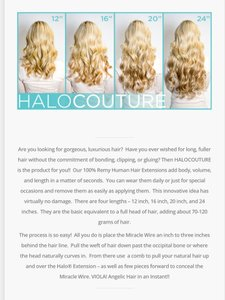 Halo Hair Extension 100% Remy Human Hair