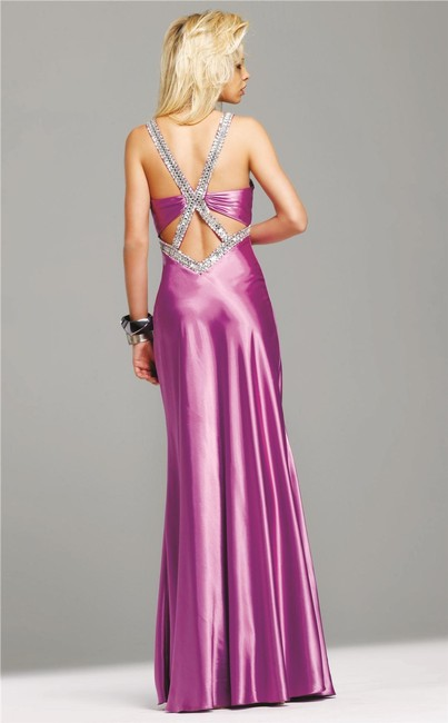 Faviana A-line Gown Brown 6523 Strappy Back Long Dress Image 1