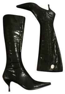 Donald J. Pliner Black Metalic Boots