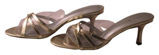 Tommy Hilfiger Shiny Silver Leather with TH initials Pumps
