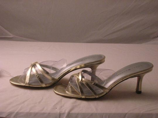 Tommy Hilfiger Shiny Silver Leather with TH initials Pumps Image 5