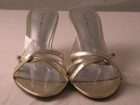 Tommy Hilfiger Shiny Silver Leather with TH initials Pumps Image 6