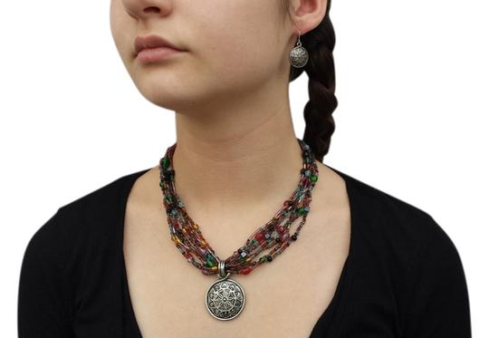 Other Multi-Color Stone Necklace and Earring set
