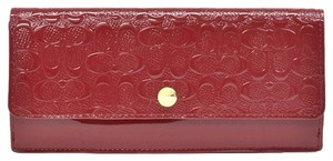 Coach COACH F52458 SOFT WALLET IN LOGO EMBOSSED PATENT LEATHER NEW WITH TAG