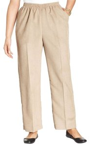 Alfred Dunner Corduroy Brown Petite 18p Straight Pants Tan