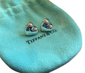 Tiffany & Co. Tiffany Co. Sterling Silver Heart Stud Earrings