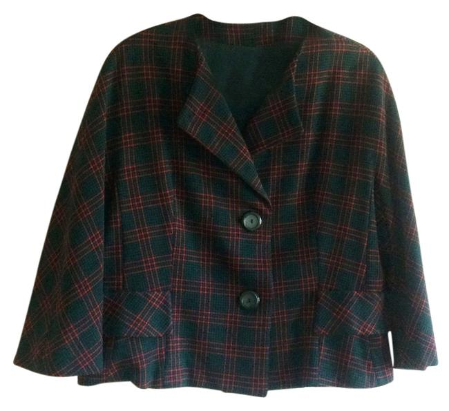 Preload https://img-static.tradesy.com/item/8823973/red-black-and-forest-green-plaid-imported-wool-double-knit-exclusively-for-blazer-size-12-l-0-1-650-650.jpg