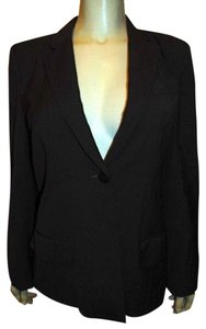 DKNY Dress Jacket DARK BROWN PIN STRIPED Blazer