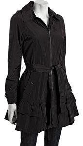 Betsey Johnson Trench Ruffle Removable Lining Winter Betsy Trench Coat