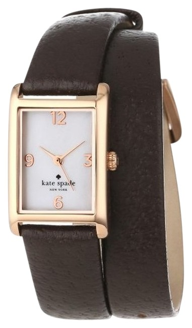 Item - Brown Chocolate Leather Cooper Strap Double Wrap Watch