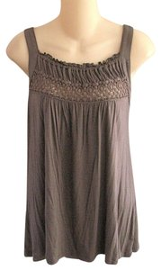 Willi Smith Xl Crochet Applique Embroidered Gathered Neckline Super Soft Knit Tank Top