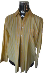 Lauren Ralph Lauren Button Up Striped Layers Button Down Shirt yellow blue white stripes