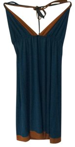 T-Bags Los Angeles short dress Teal blue and brown on Tradesy