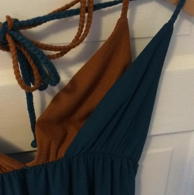 T-Bags Los Angeles short dress Teal blue and brown on Tradesy Image 4