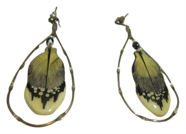 Silver/Feather Indian Earrings Silver/Feather Indian Earrings Image 1