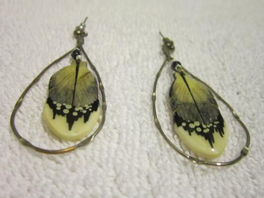 Other SILVER INDIAN FEATHER EARRINGS