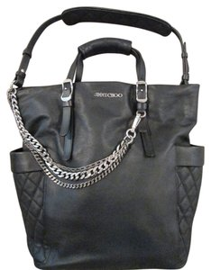 Jimmy Choo Leather Tote Metalhardware Motobag Shoulder Bag