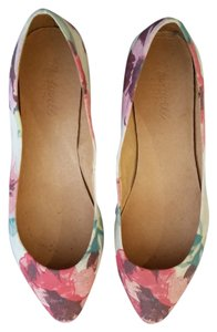 Madewell Fabric Pink Tearose Floral Flats