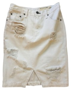 Rag & Bone Denim Skirt White