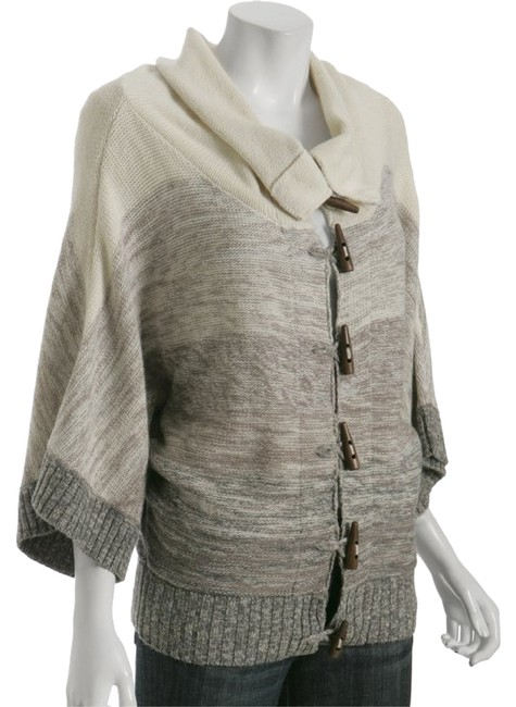 Preload https://img-static.tradesy.com/item/8825731/joie-tan-and-gray-ombre-whispering-bliss-shawl-sweaterpullover-size-12-l-0-1-650-650.jpg
