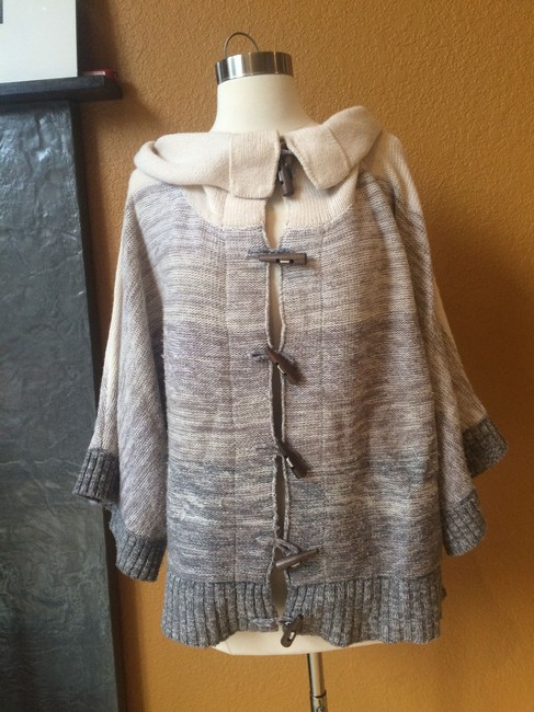 Joie Cashmere Wool Blend Poncho Sweater Image 1