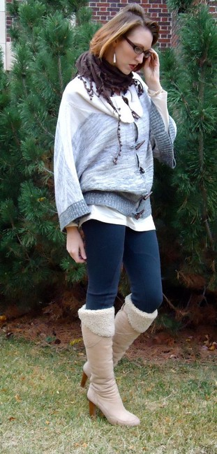 Joie Cashmere Wool Blend Poncho Sweater Image 9