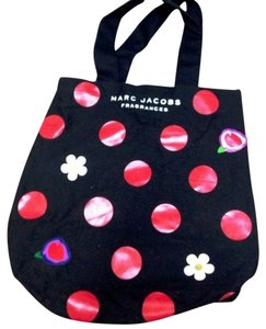 Marc Jacobs Canvas Daisy Polka Dot Women's Red Tote in black