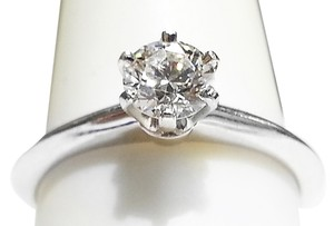 Tiffany & Co. THE TIFFANY SETTING 0.48Ct DIAMOND SOLITAIRE PLATINUM RING SIZE 6