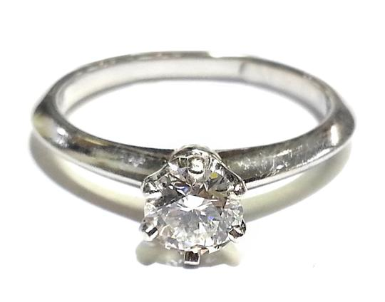 Tiffany & Co. THE TIFFANY SETTING 0.48Ct DIAMOND SOLITAIRE PLATINUM RING SIZE 6 Image 1