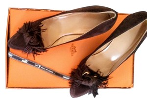 Hermès Shall We Dance Collection 2007 Chocolate Euro Size 40 Us Size 10 Career Work Classic Low Heels Brown Pumps